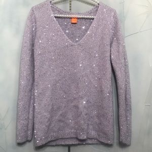 Light purple sequin sweater size small
